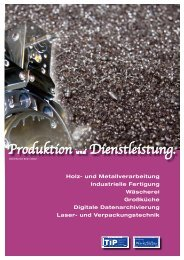 Produktion und Dienstleistung. - EVBZ Steinhöring