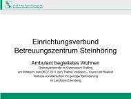 Ambulant Betreutem Wohnen - EVBZ Steinhöring