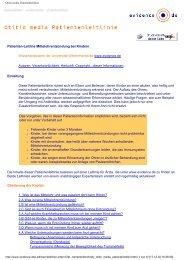Otitis media Patientenleitlinie - Wissensnetzwerk evidence.de