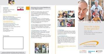 Infoflyer SeniorTRAINERinnen (PDF) - Evangelische Kirche der Pfalz