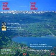 Welcome to Vorarlberg Willkommen in Vorarlberg - Tiscover