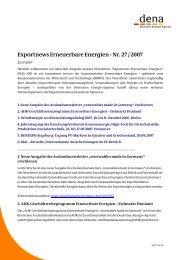 Exportnews Erneuerbare Energien - Nr. 27 / 2007 - Exportinitiative ...
