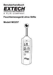Benutzerhandbuch Feuchtemessgerät ohne Stifte Modell MO257