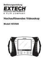 Hochauflösendes Videoskop - Extech Instruments