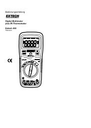 Bedienungsanleitung Digital Multimeter plus IR-Thermometer ...