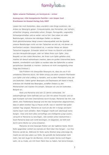 Auszug aus »Die kompetente Familie« von Jesper Juul ... - Familylab