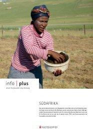 INFOPlus: Südafrika - Entwicklung geschieht durch ... - Fastenopfer