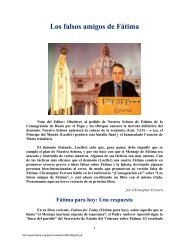 Los falsos amigos de Fátima - The Fatima Network