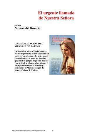 El urgente llamado de Nuestra Señora