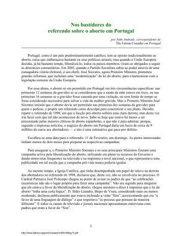 Nos bastidores do referendo sobre o aborto em Portugal