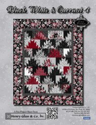 Black White & Currant 4 Quilt - Henry Glass & Co
