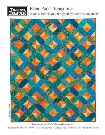 Tropical Punch Quilt Pattern - Fat Quarter Shop