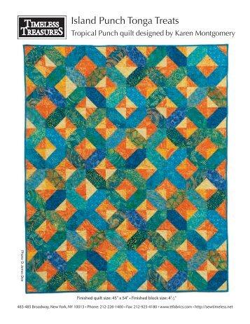 Tropical Punch Quilt Pattern - Fat Quarter Shop