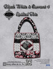 Black White & Currant 4 Quilted Tote - Henry Glass & Co