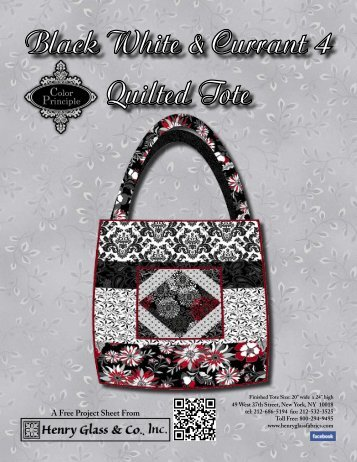 Quilted Tote Bag South Sea Imports