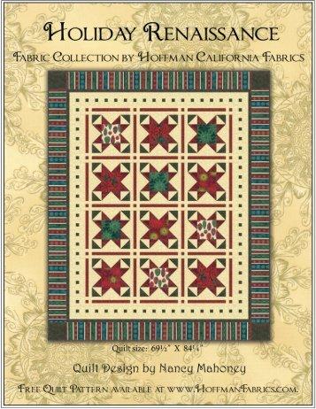 Holiday Renaissance quilt pattern - Hoffman California Fabrics