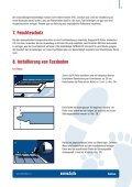Vorschrift für verlegung und pflege FATRACLICK - Page 7