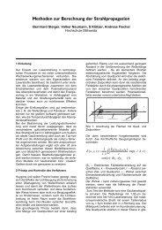 Methoden zur Berechnung der Strahlpropagation - Hochschule ...