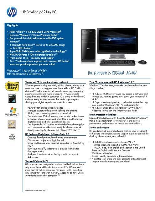 HP Pavilion p6214y PC - FatWallet