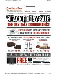 Page 1 of 4 Furniture Row - Black Friday Sale 11/20 ... - FatWallet
