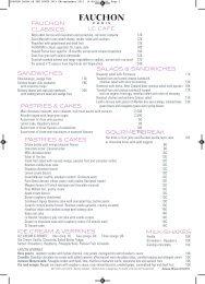 Download our Salon de thé menu (PDF) - Fauchon