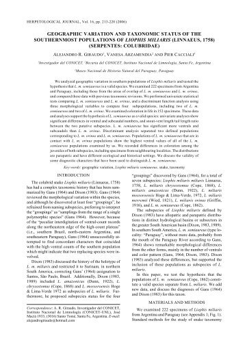 Giraudo et al pp 213-219.p65 - FAUNA Paraguay
