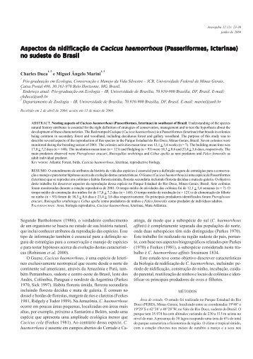 artigo 3 - Sociedade Brasileira de Ornitologia
