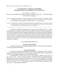 BOLETIN MUSEO NACIONAL DE HISTORIA ... - FAUNA Paraguay
