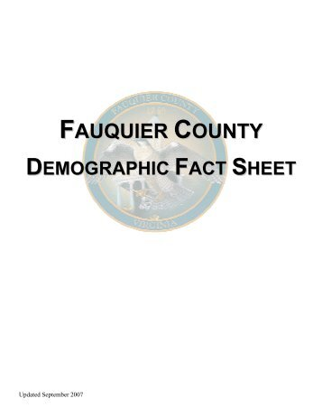 Fauquier County Demographic Fact Sheet