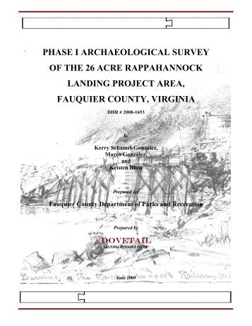 Rappahannock Landing Archaeological Survey ... - Fauquier County