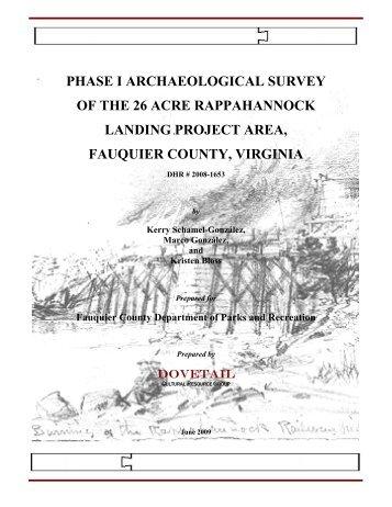 Rappahannock Landing Archaeological Survey ... - Fauquier County