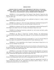 RESOLUTION A RESOLUTION TO ADOPT AND ... - Fauquier County