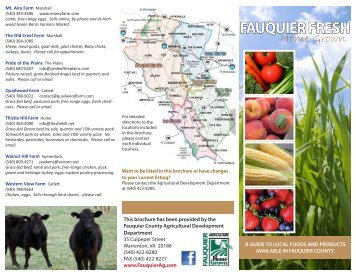 LOCAL CSAs - Fauquier County