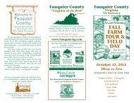 FALL FARM TOUR & FIELD DAY - Fauquier County, Virginia
