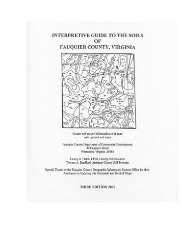INTERPRETIVE GUIDE TO THE SOILS - Fauquier County