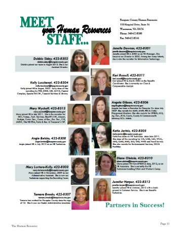 Who's who in human resources - Fauquier County