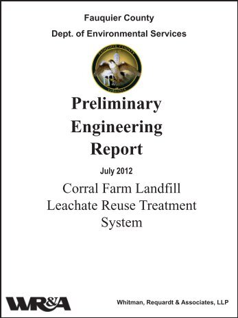 Preliminary Engineering Report - Fauquier County
