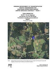 Virginia department of transportation traffic - Fauquier County