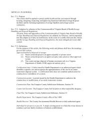 Chapter 17 – Ordinance Regarding On-Site ... - Fauquier County