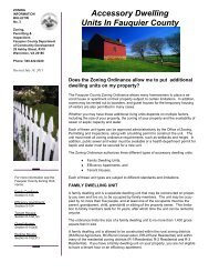 Accessory Dwelling Units In Fauquier County