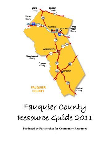 Fauquier County Resource Guide 2011