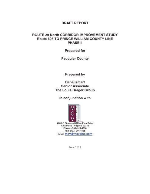 Study & Appendices pgs. 1-30 - Fauquier County