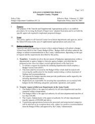 Budget Adjustment Guidelines - Fauquier County