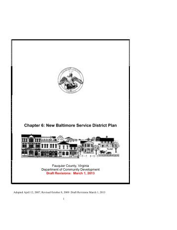 Draft Plan - Fauquier County
