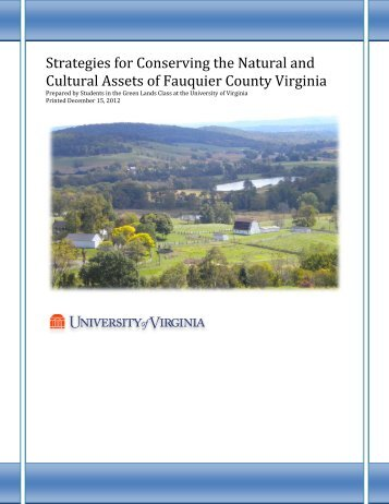 Strategies for Conserving the Natural and ... - Fauquier County