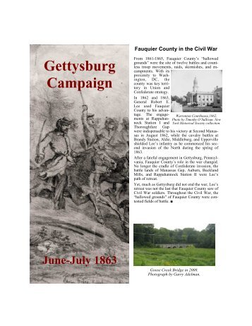 Gettysburg Campaign Brochure