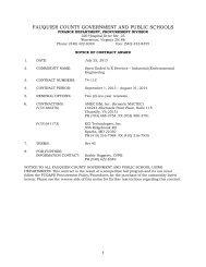 A/E Open-End Services - Industrial Environmental ... - Fauquier County