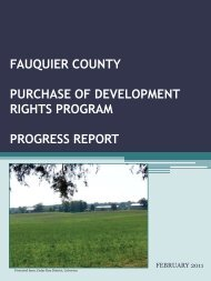 fauquier county purchase of development rights program progress ...