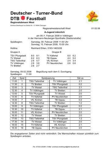 Westdeutsche Meisterschaft männl. A-Jugend, 09.02 ... - VfL Kirchen
