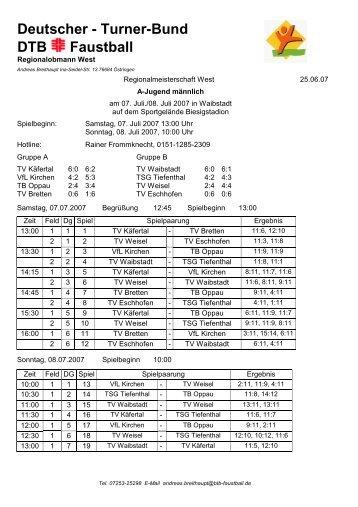 Westdeutsche Meisterschaft männl. A-Jugend, 07.07 ... - VfL Kirchen
